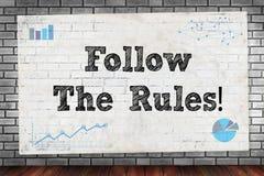 Folgen Sie den Regeln! Lizenzfreie Stockbilder
