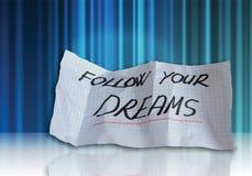 Folgen Sie Ihren Träumen Stockfoto