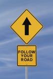 Folgen Sie Ihrer Straße Lizenzfreie Stockbilder