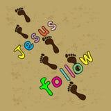 Folgen Sie Jesus lizenzfreie abbildung