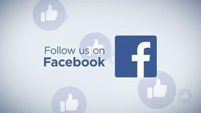 Folgen Sie uns auf Facebook-Schleife stock footage