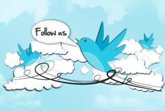 Folgen Sie uns auf Sozialmedien lizenzfreie abbildung