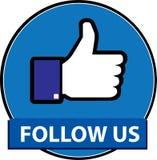 Folgen Sie uns facebook Knopfvektor stock abbildung