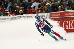 FOLGEN Sie Werner in FIS alpiner Ski World Cup - der SUPER-G der 3. MÄNNER auf den Fersen Stockfotografie