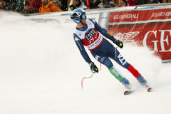 FOLGEN Sie Werner in FIS alpiner Ski World Cup - der SUPER-G der 3. MÄNNER auf den Fersen Stockfoto