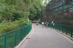 Folgender Halt Hong Kong Park stockbild