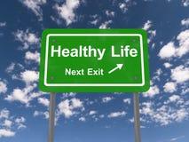 Folgendes Ausgangszeichen des gesunden Lebens Stockbild