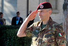 folgore降伞旅团的劳伦斯D'addario司令员将军 免版税库存图片