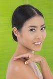 Folha asiática da beleza e da banana Imagens de Stock Royalty Free