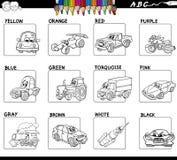 Folha básica da atividade das cores para colorir ilustração stock