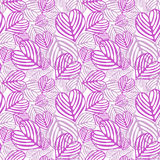 Folha caída cor-de-rosa sem emenda Fotos de Stock