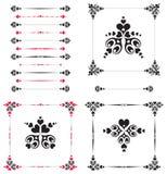 Folha da flor do coração/quadros/vetor Imagem de Stock Royalty Free