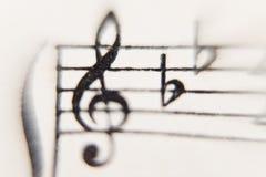Folha da música imagem de stock