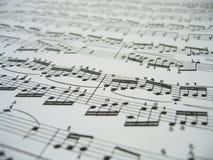 Folha da música fotografia de stock royalty free