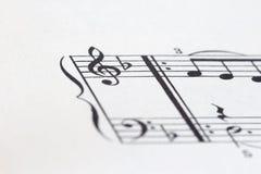 Folha da música P03 Fotografia de Stock