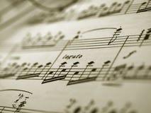Folha da nota da música Imagens de Stock