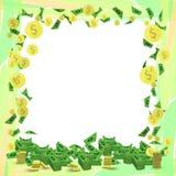 Folha da orientação do quadrado do dinheiro do quadro da foto Fotos de Stock