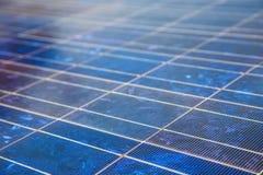 Folha das células solares Fotografia de Stock