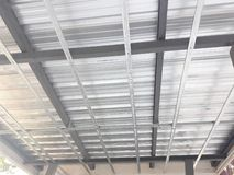 Folha de aço galvanizada do telhado imagem de stock