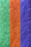 Folha de etiquetas coloridas da estrela Fotos de Stock