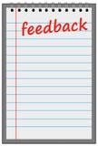 Folha de feedback Fotografia de Stock Royalty Free