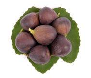 Folha de figo verde madura deliciosa Fotos de Stock