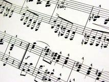Folha de música Foto de Stock