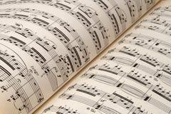 Folha de música Fotos de Stock