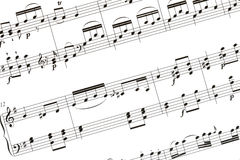 Folha de música ilustração royalty free