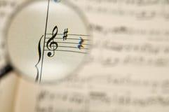 Folha de música Fotografia de Stock