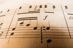 Folha de música Imagens de Stock Royalty Free