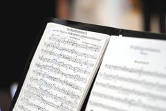Folha de música de um março de casamento Fotografia de Stock Royalty Free