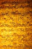 Folha de música do vintage Fotos de Stock