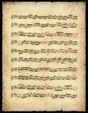 Folha de música do vintage Fotografia de Stock