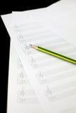 Folha de música vazia Fotografia de Stock Royalty Free