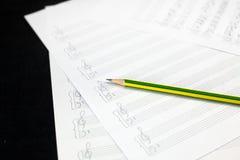 Folha de música vazia Imagens de Stock