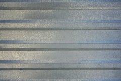 Folha de metal azul cinzenta com linhas horizontais Textura da superfície áspera foto de stock