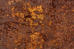 A folha de metal corroeu a textura significativa oxidada oxidada do fundo imagens de stock royalty free