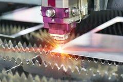 Folha de metal da soldadura do laser do CNC da elevada precisão Fotografia de Stock