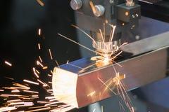Folha de metal da soldadura do laser do CNC da elevada precisão Imagem de Stock Royalty Free