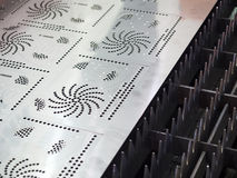 Folha de metal do corte de gás do CNC Imagens de Stock Royalty Free