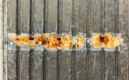 Folha de metal galvanizada Fotografia de Stock