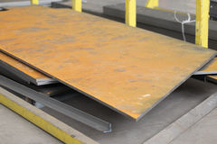 Folha de metal oxidada Fotografia de Stock