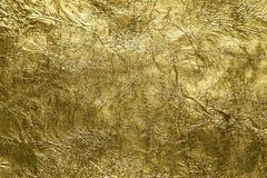 Folha de ouro brilhante apropriada para o fundo luxuoso Fotos de Stock