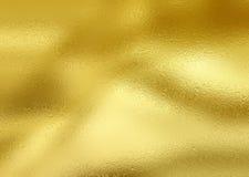 Folha de ouro de brilho Fotografia de Stock Royalty Free