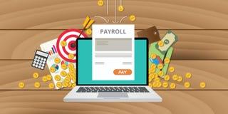 A folha de pagamento empreende o salário do dinheiro Fotografia de Stock Royalty Free
