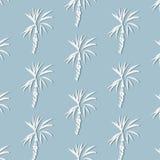 Folha de palmeira tropical no fundo azul Ilustra??o floral do vetor com silhuetas da palma C?pia da natureza do ver?o exotic ilustração royalty free