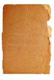 Folha de papel amarelada velha Foto de Stock Royalty Free