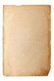 Folha de papel amarelada velha Foto de Stock
