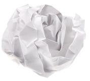 Folha de papel amarrotada imagens de stock